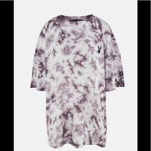 Playboy tie dye oversized t-shirt dress